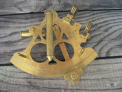 Brass Navigation Sextant Nautical Survey Instrument Astrolabe 6 1/2 inch