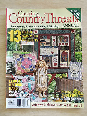 Creating Country Threads Vol 11 #12~Quilts~Dolls~Bag~Cushions~Wall-Hangings