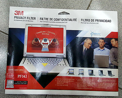 3M PF14.1 Laptop Notebook Black Privacy Filter (14.1 inch)