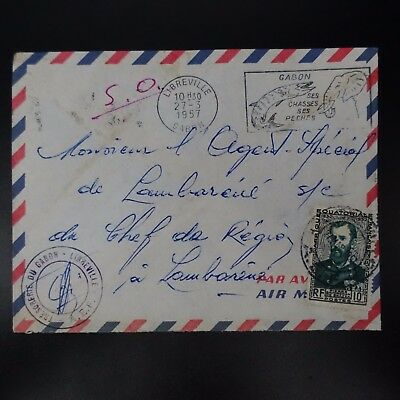 Gabon Letter Cover Cad Libreville 1957 -> Agent Special Head Of Region
