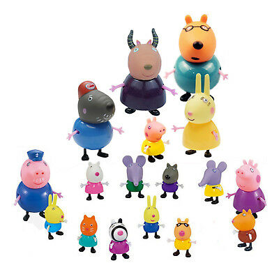 Peppa Pig Family&Friends Emily Rebecca Suzy Figures Toys Kids Birthday Gift