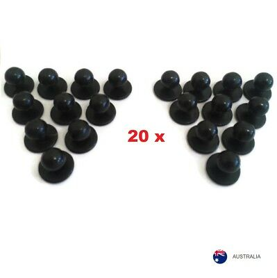 NEW Chef Jacket Buttons 20 X Black Chefs Button Replacement Pack Set of Twenty