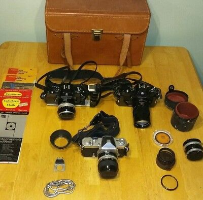 NIKKORMAT Vintage 35mm Camera LOT with Extras Collector Quality NIKON