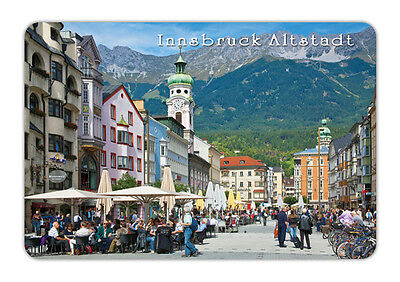 "Austria Innsbruck Altstadt Souvenir Travel Photo Fridge Magnet 3.5""X2.4"""