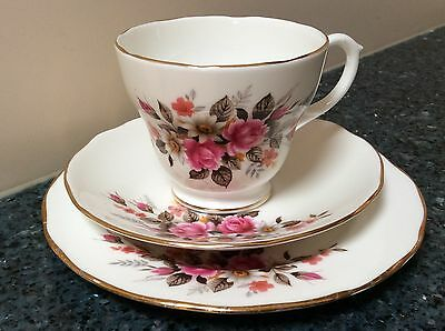 Duchess Pattern 385 Cup, Saucer & Side Plate Trio Made in England