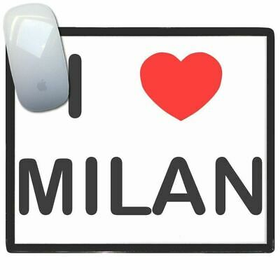 I Love Milan - Thin Pictoral Plastic Mouse Pad Mat BadgeBeast