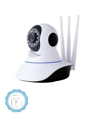Telecamera Ip Cam Wireless Wi-Fi Tripla Antenna New Motorizzata 1080P Full Hd