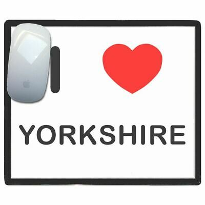 I Love Heart Yorkshire - Thin Pictoral Plastic Mouse Pad Mat BadgeBeast