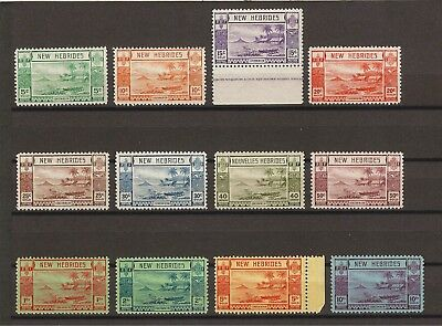 NEW HEBRIDES 1938 SG 52/63 MNH Cat £325