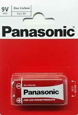 PANASONIC 9V ZINC CARBON BATTERY Original