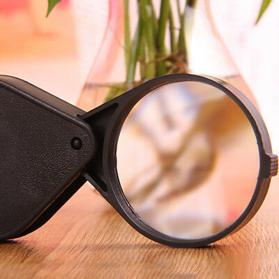 Reading Pocket Magnifying Glass 10x Folding Magnifier Thin Jewelry Tools