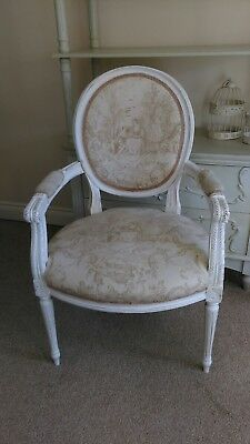 French Louis Armchair. Vintage. Shabby chic.