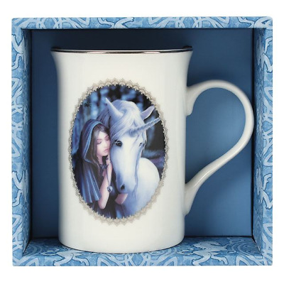 Anne Stokes boxed mug featuring the Unicorn design Solace