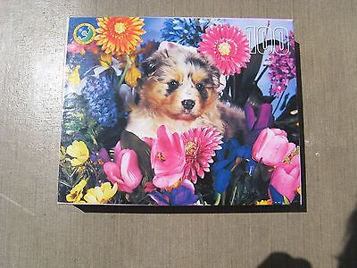 Dog Jigsaw Puzzle Aussie Puppy - 100 pieces - New in Sealed Box by Leap Year