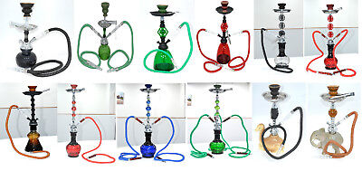Small,medium,large,extra Large Smoking Hookah Pipes  1/2/3 Hose Shisha Puffs