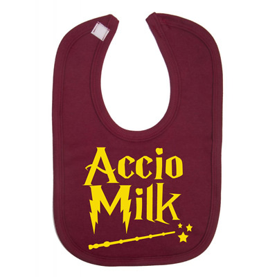 Accio Milk Harry Potter Baby Bib Novelty Baby Bibs Baby Gifts 100% Cotton