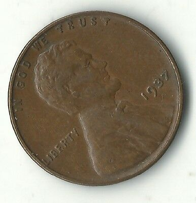 A Extra Fine Condition 1937 P Lincoln Cent-Old Us Coin-Sep189