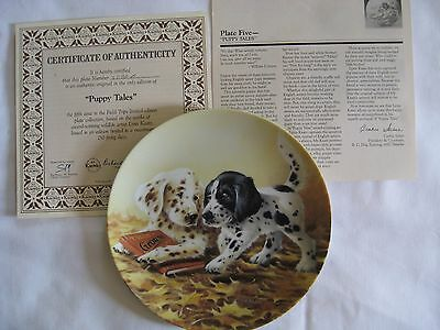"English Setter ""Puppy Tales"" Collector's Plate by Lynn Kaatz Knowles #3992A"