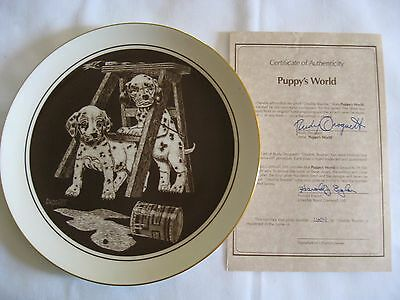 """Dalmatian Collector's Plate """"Double Trouble"""" by Rudy Droguett Plate #1604"""