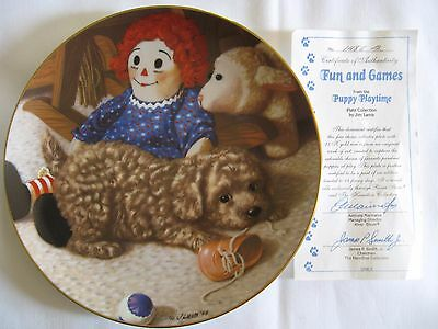 "Goldendoodle Collector's Plate ""Fun and Games"" by Jim Lamb #1486B"