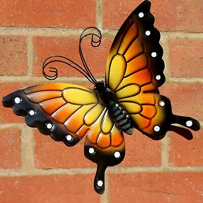 Butterfly Large Orange Metal Butterflies Wall Art Outdoor Garden Decoration
