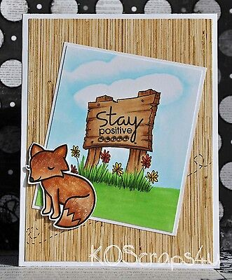 KOScraps4u Premade Stamped Techniques Copic Hand Colouring Cards Paper Piecing
