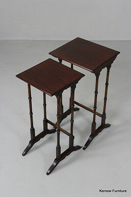 Pair Antique Style Nest Side Tables