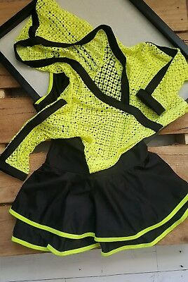 Girls Jazz/Hip Hop Dance Two-Piece Costume (Size: LC)