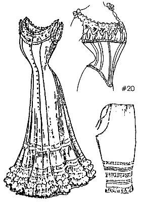 """A Collection of Under Garments Sewing Pattern for a 24""""  Doll #Lady Marion 20-24"""
