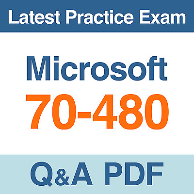 Microsoft HTML5 with JavaScript and CSS3 Practice Test 70-480 Exam Q&A PDF