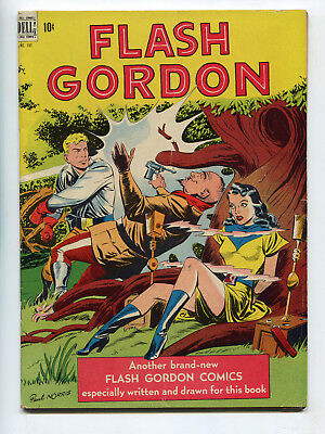 1948 Dell Four Color #190 Flash Gordon Paul Norris Wrap Around Cover Fn/vf