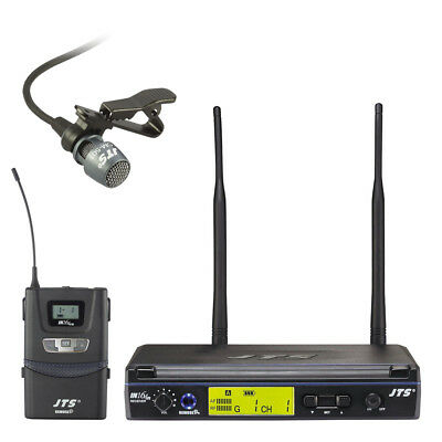 JTS IN165 UHF Wireless Lapel Tie Clip Mic System