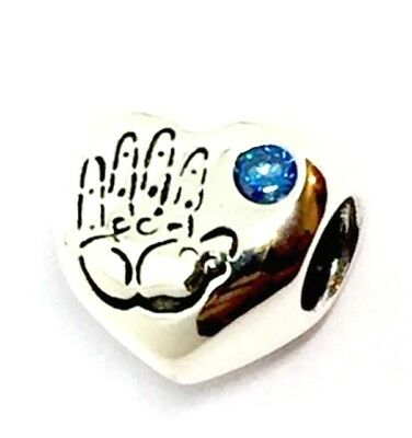 8c4fc237c GENUINE AUTHENTIC PANDORA Baby Boy Heart Charm S925 ALE - £22.24 ...