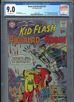 1964 Dc Comics The Brave And The Bold #54 1St Appearance Teen Titans Cgc 9.0 Ow