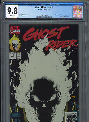 1991 Marvel Ghost Rider V2 #15 Glow-In-The-Dark Cover Cgc 9.8 White