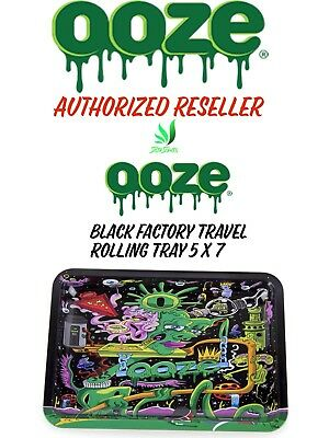 Ooze Factory Travel Metal Rolling Tray Purple Size 5x7 New