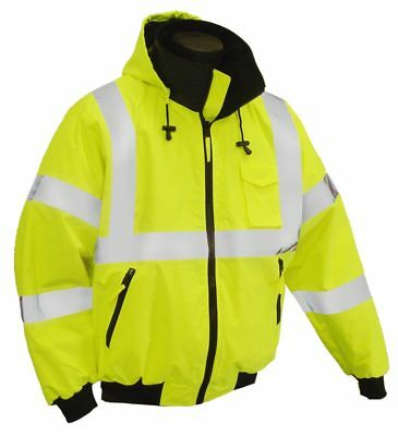 Men's Safety M-Safe High Visibility Jacket Class 3 Level 2 Brand New 6XL Yellow