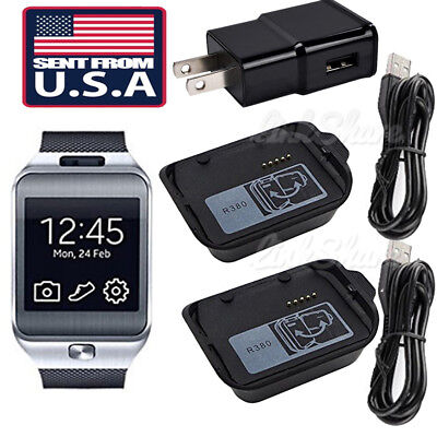 US Charging Cradle Smart Watch Charger Dock for Samsung Galaxy Gear 2 SM-R380 e0