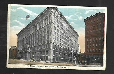 Vintage Postcard Ellicot Square Office Building Buffalo New York