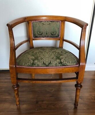1900's Antique French Walnut Boudoir / Vanity Club Chair