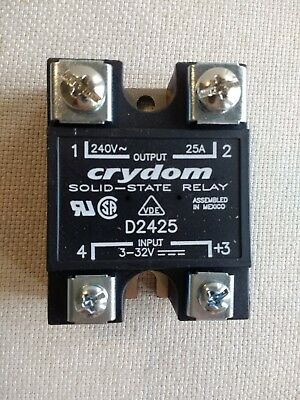 D2425, Crydom, Solid State Relays-Industrial Mount 25A 240VAC DC, BRAND NEW!