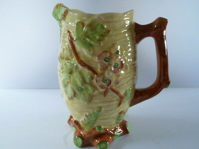 SHORTER & SON HAND PAINTED large JUG--blossom tree and branches