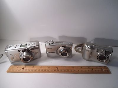 Lot of Digital Cameras: Canon Sure Shot, Nikon Cool Pix 4600, Kodak Easy Share