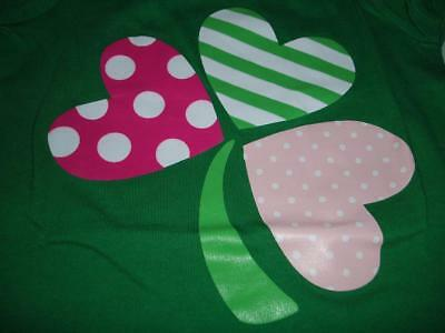 Baby Girl Shirt St. Patricks Day Green Clover Heart Falls Creek