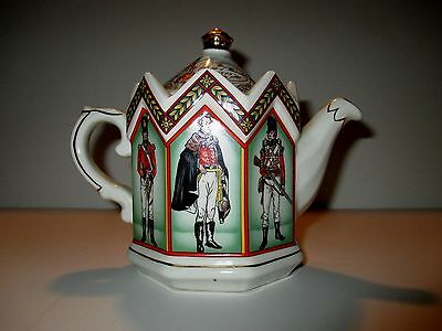 Sadler Duke of Wellington & Soldiers of the Battle of Waterloo Collector Teapot