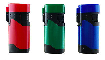 2pack Jet Torch Lighter Rubber Finish Adjustable Windproof Refillable