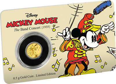 2016 Mickey Through the Ages – The Band Concert 0.5g Gold Coin