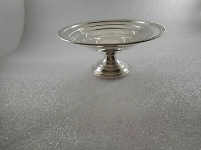 "Beautiful Sterling Silver Compote 6"", 116.8 grams Excellent condition !!!!"