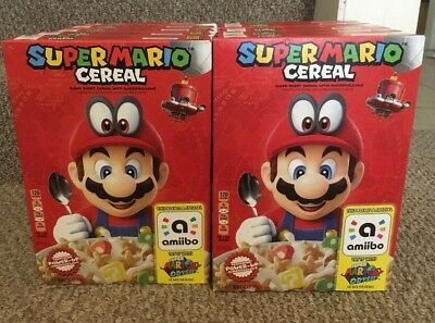Lot of 10 Kellog's SUPER MARIO ODYSSEY CEREAL Limited Edition Nintendo W/Amiibo
