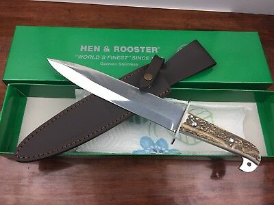 "Hen & Rooster Rams Horn 15"" Arkansas Toothpick Bowie Knife Limited Edition"